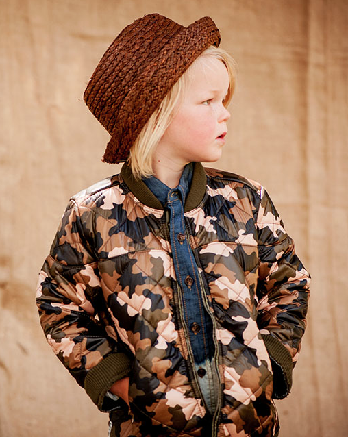 OUCH CAMO PUFFER BOMBER $79.95