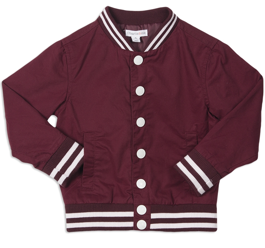 CHARLIE & ME COLLEGE BOMBER $20.00