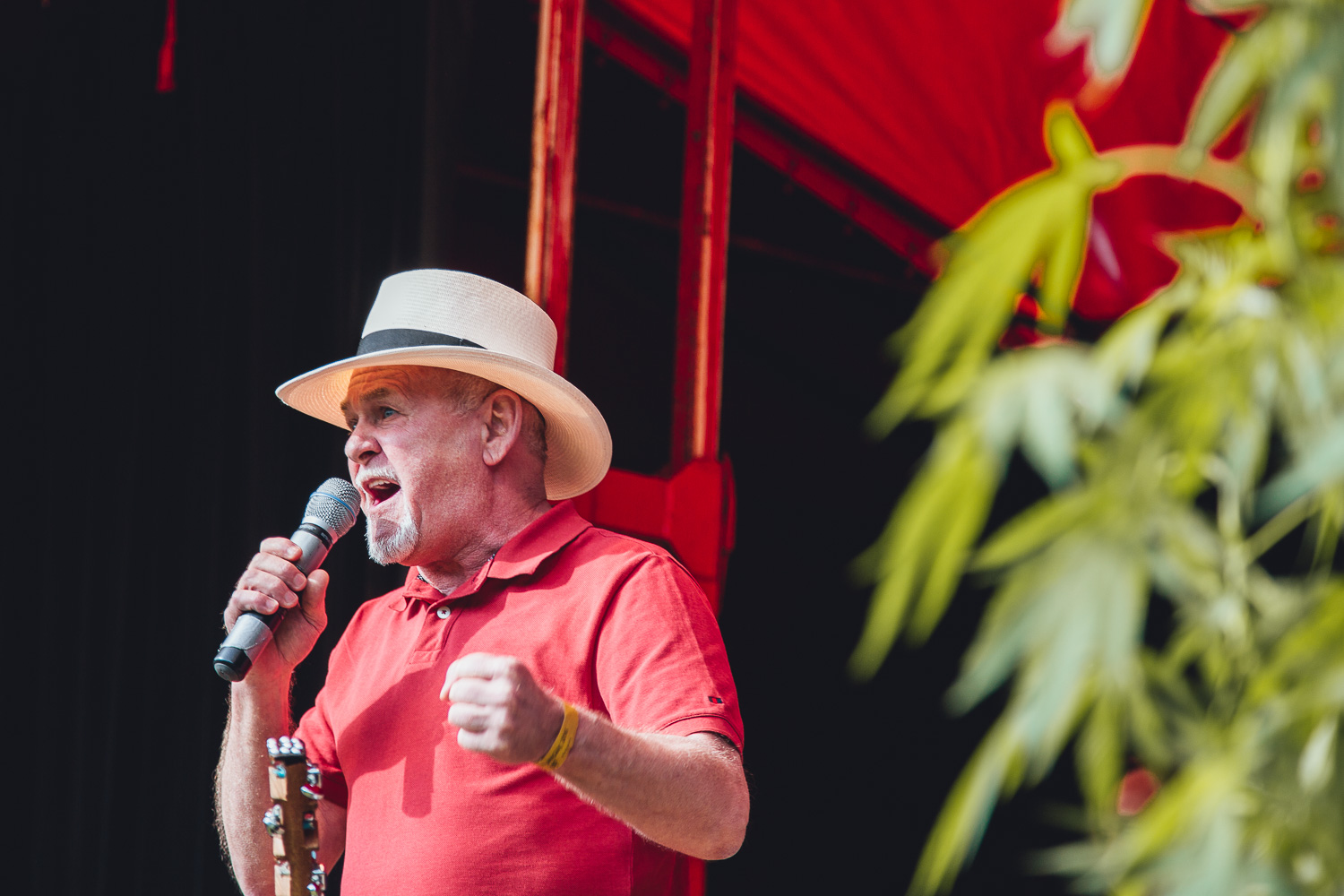 Rick on stage in at the cannabis liberation festival in Amsterdam