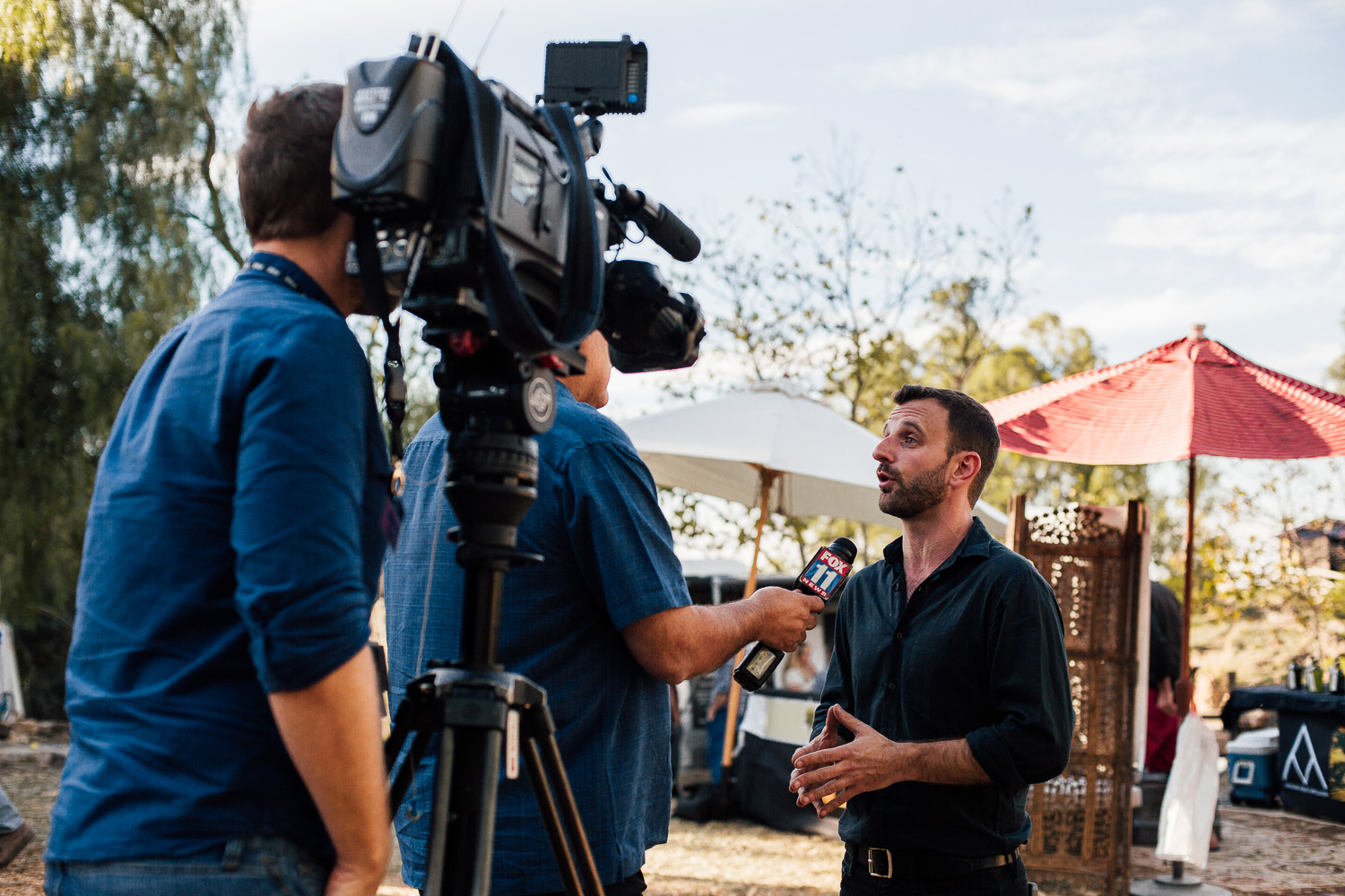 The interest in Evoxe comes from all over the United States. In Malibu at the Emerald Exchange Michael gives an interview to Fox news