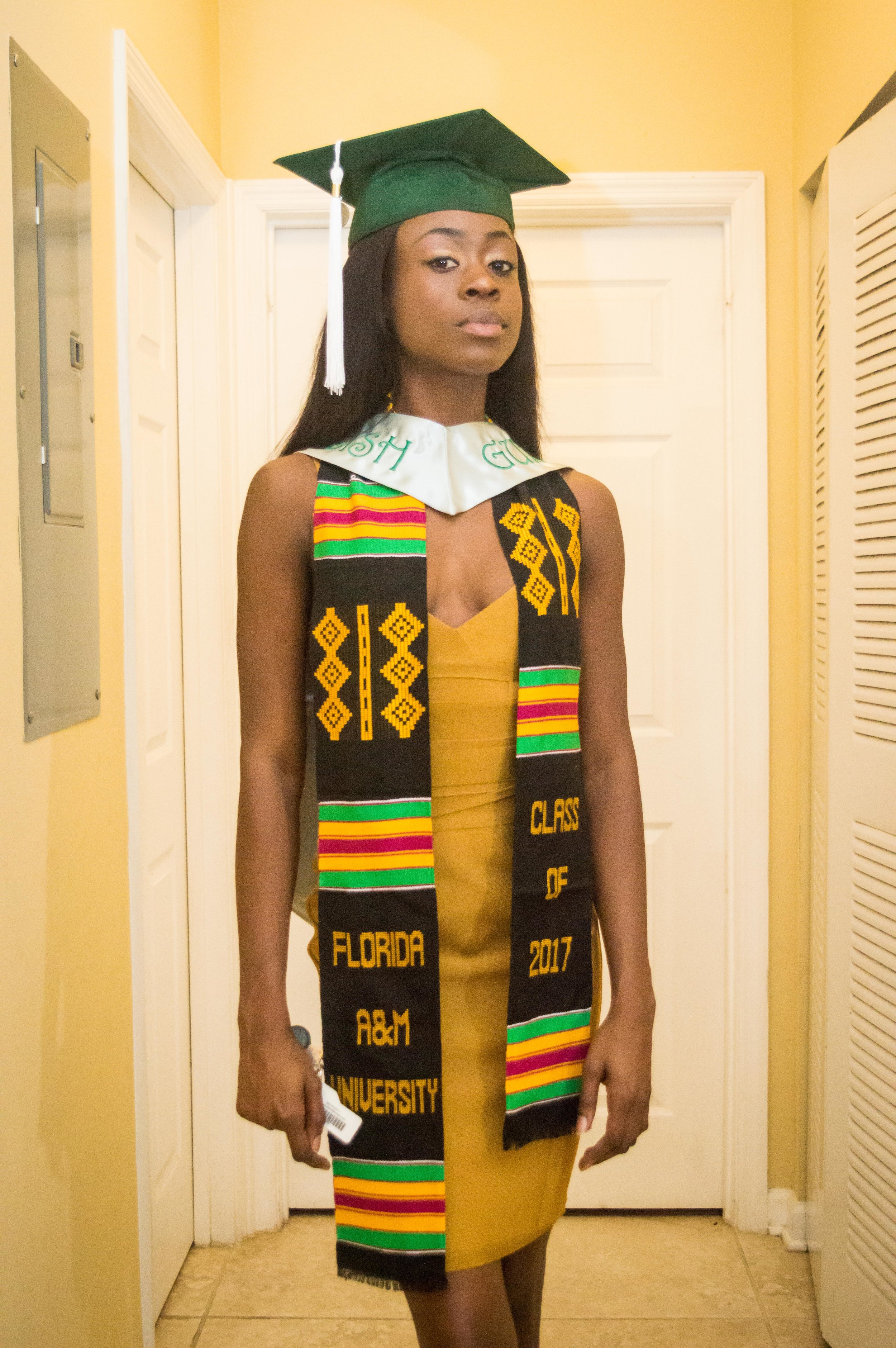 While shooting Tima getting ready, we got a pleasant surprise in the form of one of our loyal clients Maylore, here to head to graduation as well. -