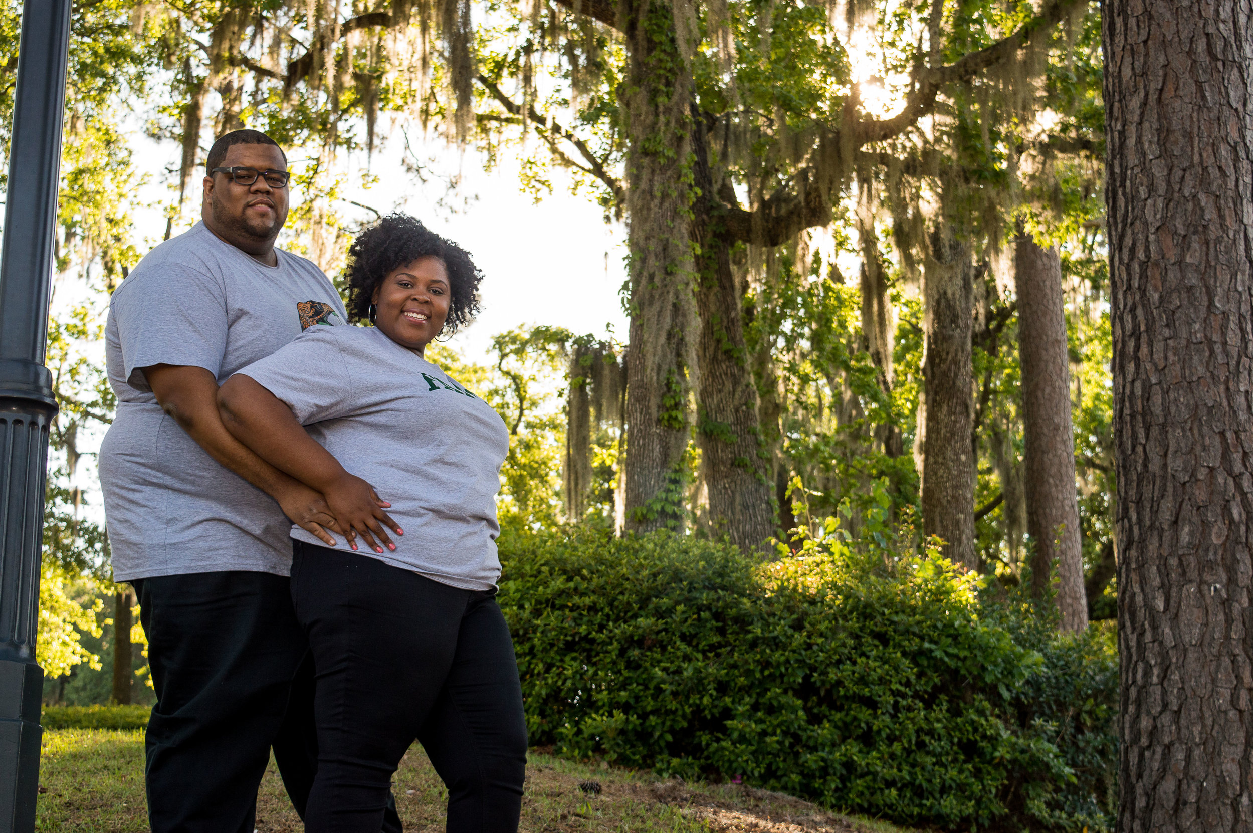 The natural scenery on the campus was gorgeous, so we had the perfect backdrop to capture the love of these two people. -