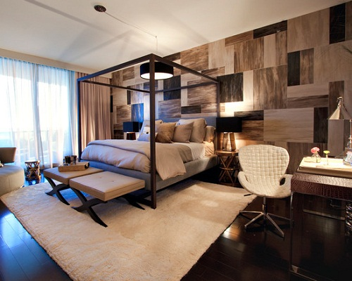 Masculine urban contemporary bedroom