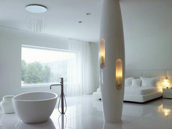 Modern minimalist master bedroom.