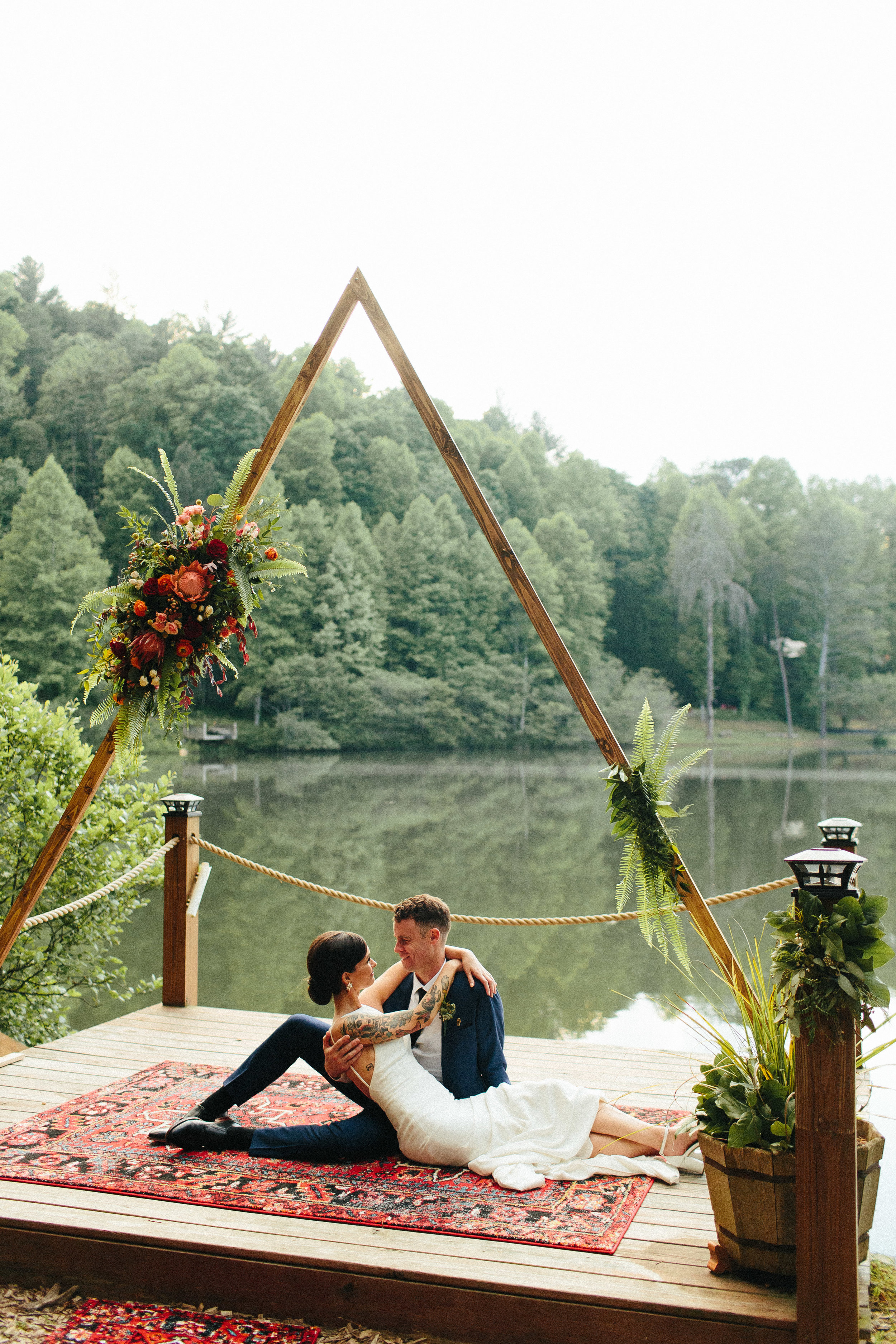 ellijay_cabin_intimate_wedding_georgia_geometric_altar_bridal_cape_diy_1895.jpg