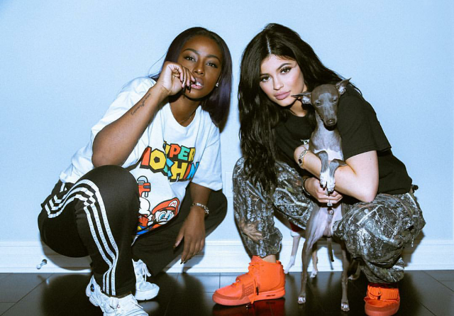 """Lil Babies that slay together stay together, right? Just ask Justine Skye and Kylie Jenner who both showed out in Reebok and Nike Yeezy """"Red October'."""