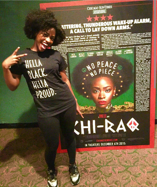 Hella black and hella proud right along with actress Teyona Parris who chucked the deuce in Nike Air Max 90s while promoting her new movie, ChiRaq.