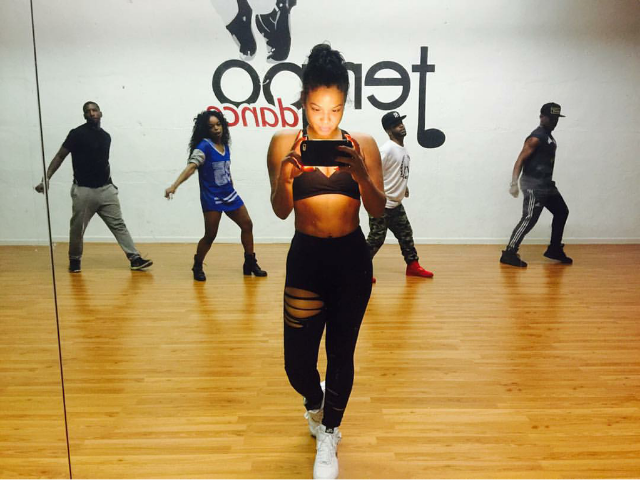 In preparation for some NYE performance action, Christina Milian took to dance practice in a pair of Nike Air Force 1 Mids.
