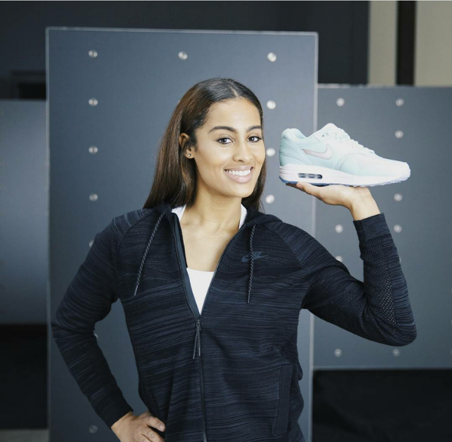 Rather than spin a basketball, WNBA star Skylar Diggins showed off her custom pair of Air Max 1s as Nike readies for their famed Air Max Day 2016. Swish.