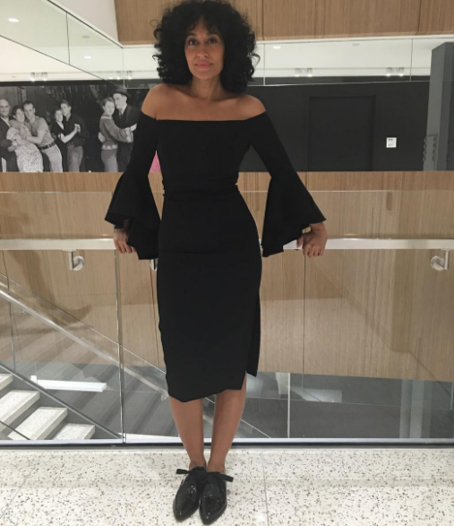 Are these technically sneakers, not quite. But they lace and tI could definitely be in them for more than an hour. Plus,Tracee Ellis Ross is bae in this amazing MillybyMichelle dress. Love.