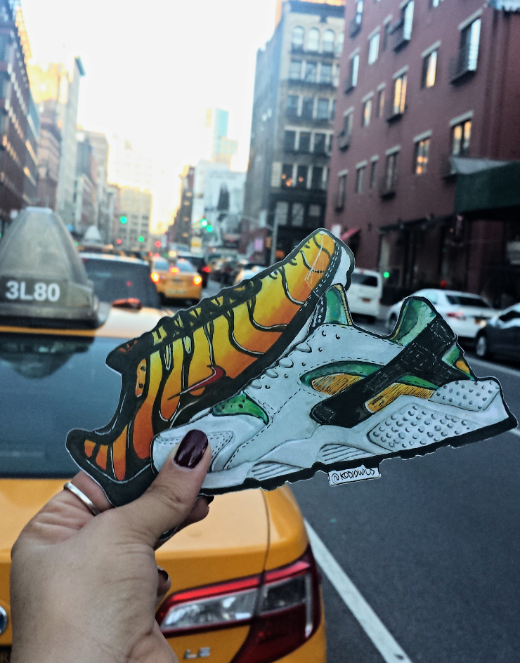 Street sneaks. Kodjo Handmade Magnets in 'Air Max Tiger Plus' and 'Air Huarache' -  Image: CNKDaily