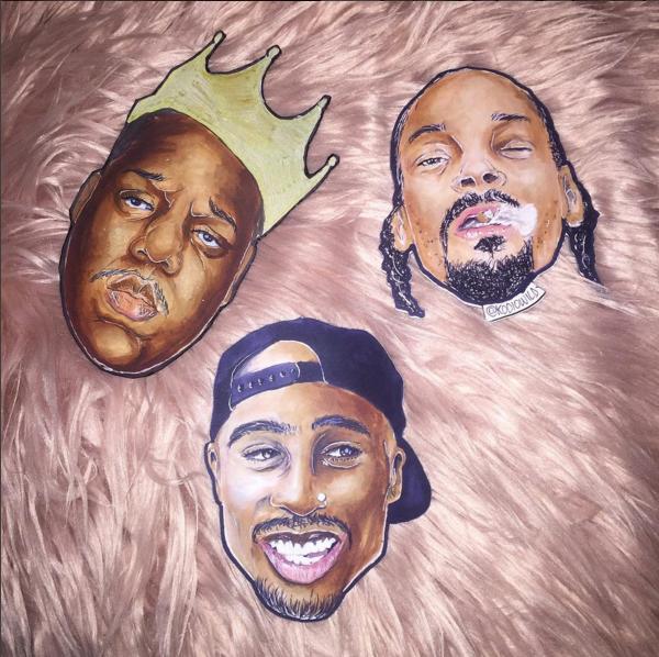 Biggie, Pac, Uncle Snoop.
