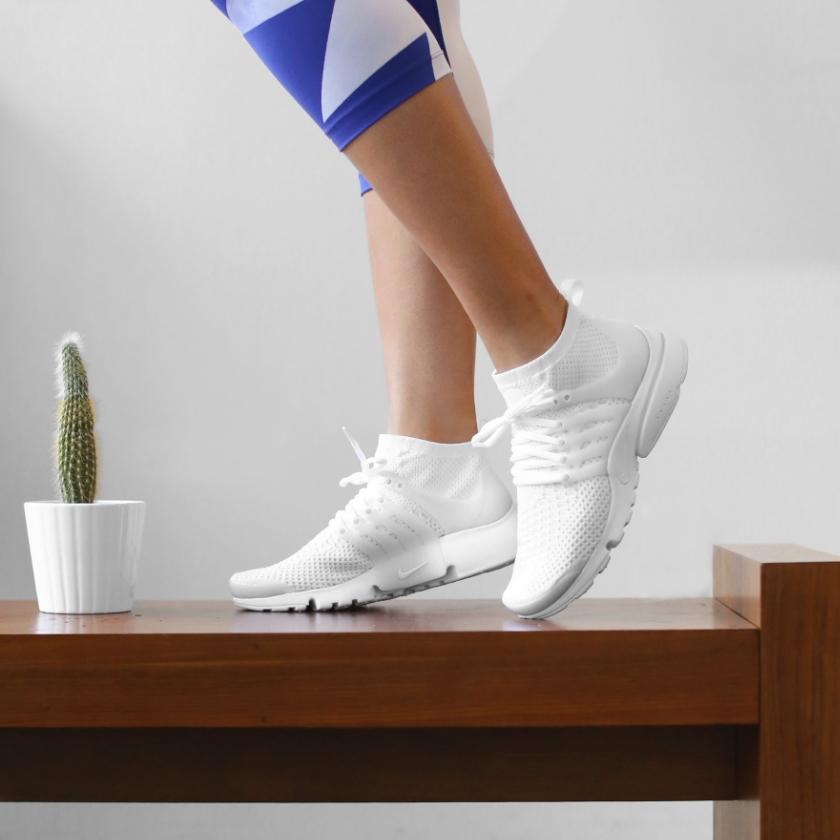 Nike WMNS Air Presto Flyknit Ultra (White)  - $150 USD; Image: Centr