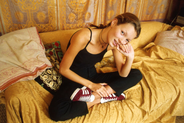 Header Image: Refinery29; Above: Kate Moss in Gazelles from 1993. Photo: Denzil McNeelance/Adidas