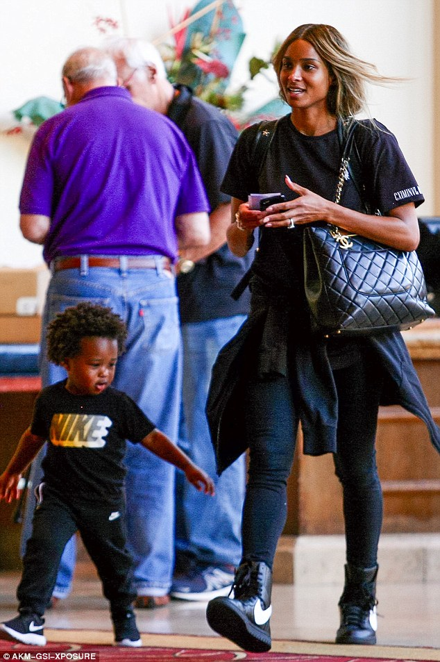 Ciara and son Future took in a dose of 'Finding Dory' this week and Ciara kept it cute and casual in her  Nike Lab Dunk Lux Hi RT  paired with a  Chanel Grand Shopping Tote.