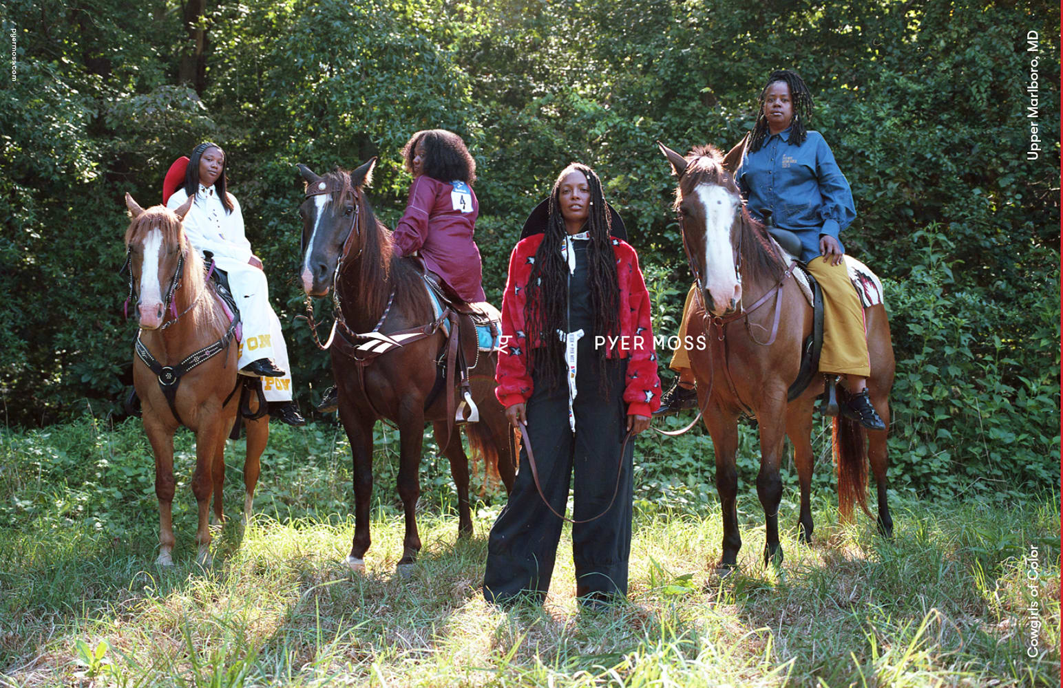 Cowgirls of Color for Pyer Moss Fall 2018. Photo: Rubberband and Kerby Jean-Raymond.