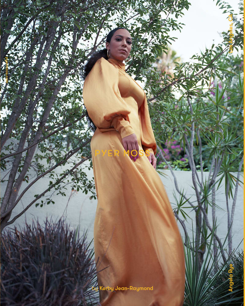Angela Rye for Pyer Moss Fall 2018. Photo: Rubberband and Kerby Jean-Raymond.