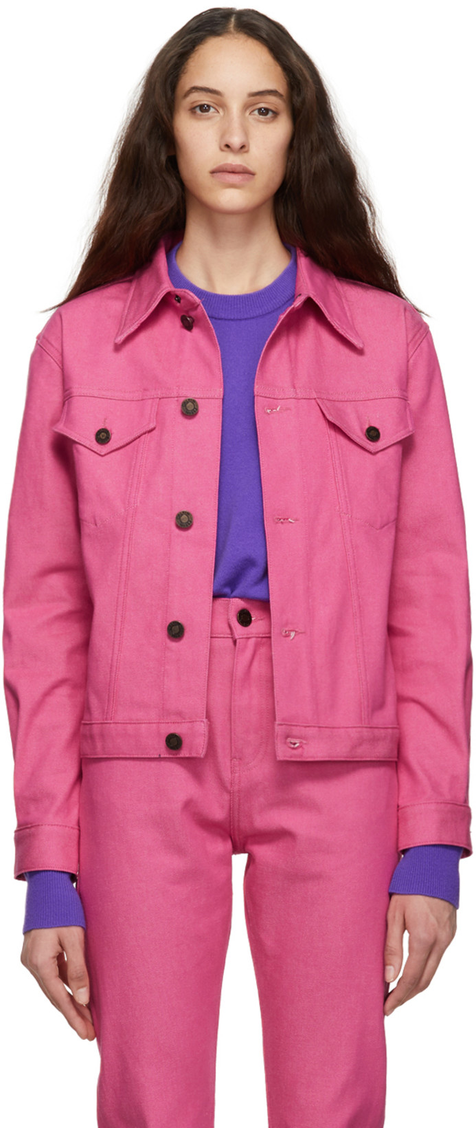 CALVIN KLEIN - Pink Denim Trucker Jacket - $108 USD
