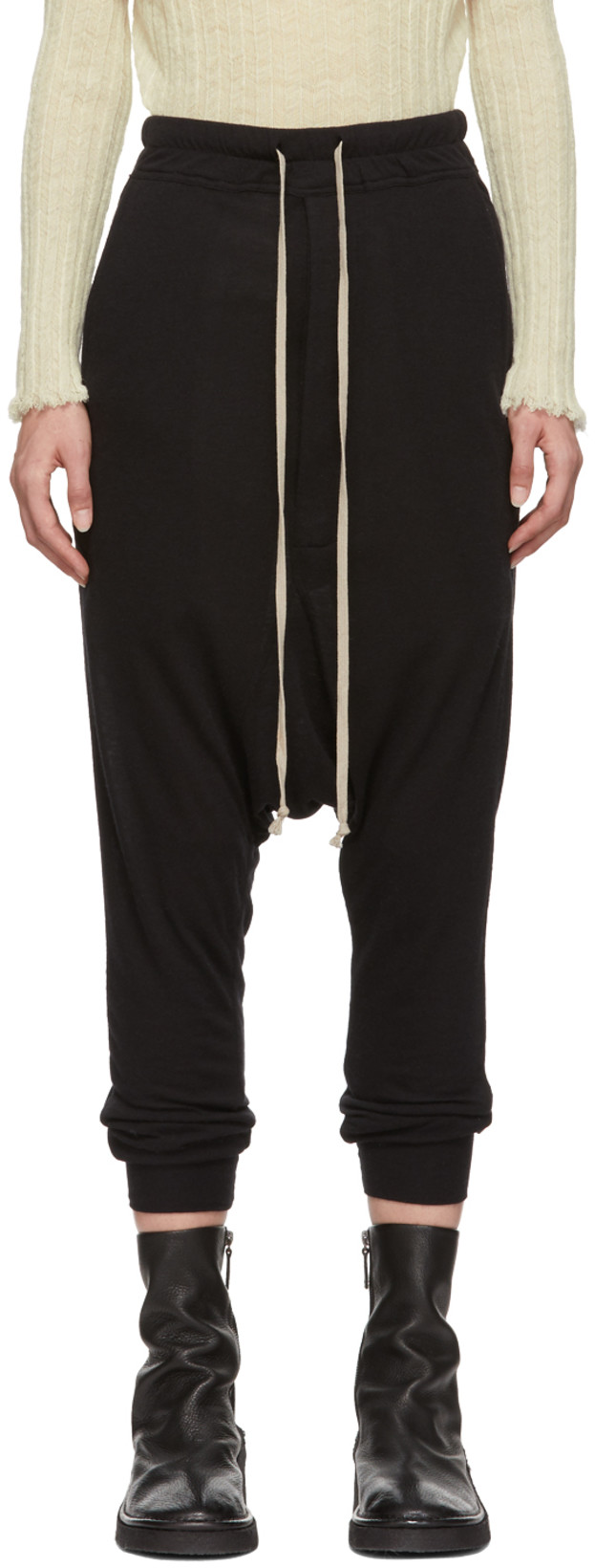 RICK OWENS - Black Heavy Jersey Lounge Pants$367 USD