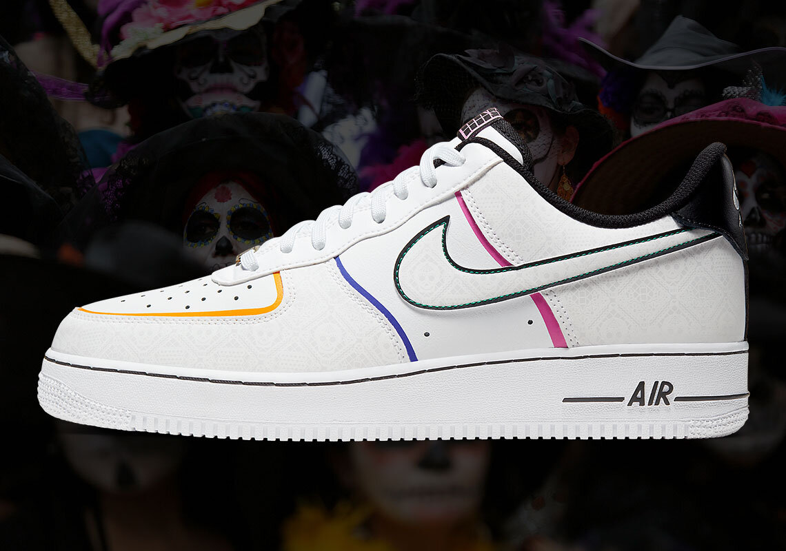 """Continuar Adecuado exagerar  Wish List: Get a Look at the Nike Air Force 1 Low """"Day Of The Dead"""" — CNK  Daily (ChicksNKicks)"""