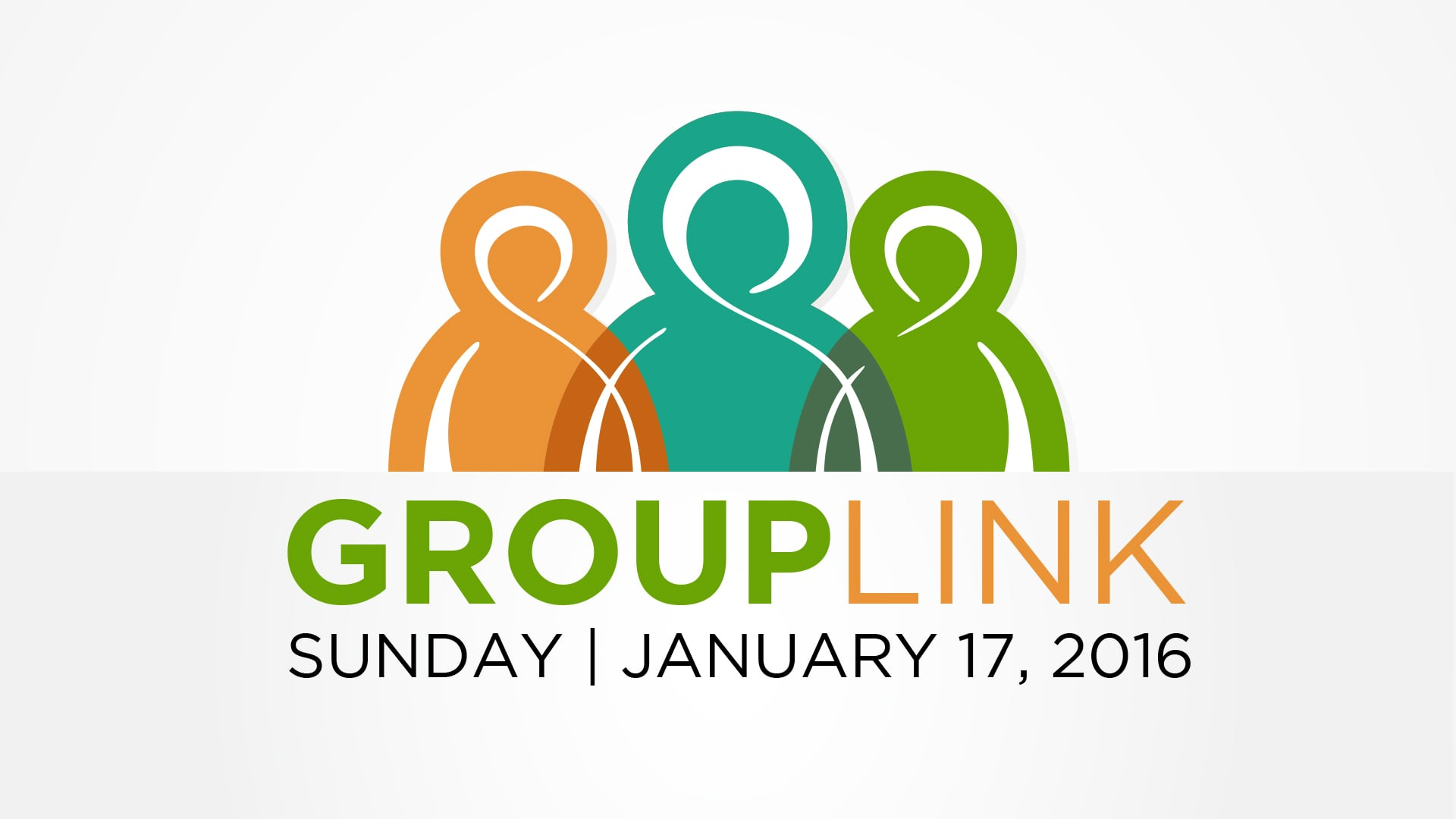 GROUP LINK - This Sunday, January 17 - After Each Service     We desire to grow together this spring and the best way to do that is in a Community Group. Find a group after each service in the lobby.