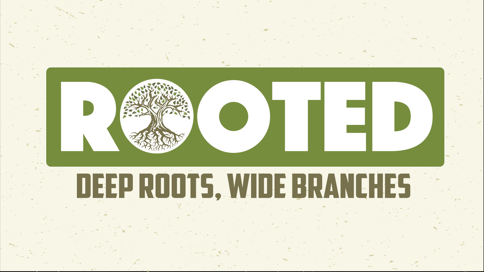 """""""ROOTED . . . Deep Roots, Wide Branches"""" sermon series continues this week!"""