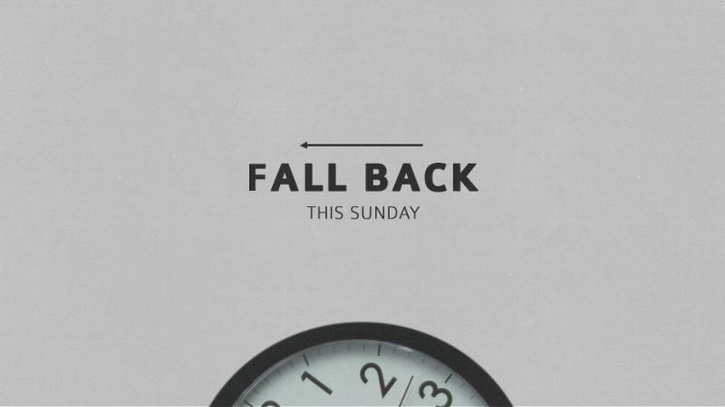 This a friendly reminder to set your clocks back Saturday night and enjoy an extra hour of wonderful sleep!