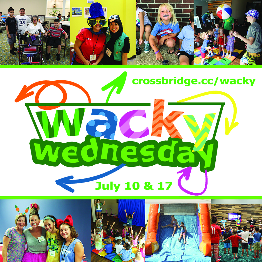WACKY WEDNESDAYS | JULY 10 & 17 | 9AM-3PM   The two craziest days of Summer are almost here, and kids 3 years through completed 6th grade will not want to miss them. Click  HERE  for more details and to register. This is the perfect event for inviting your friends and neighbors!