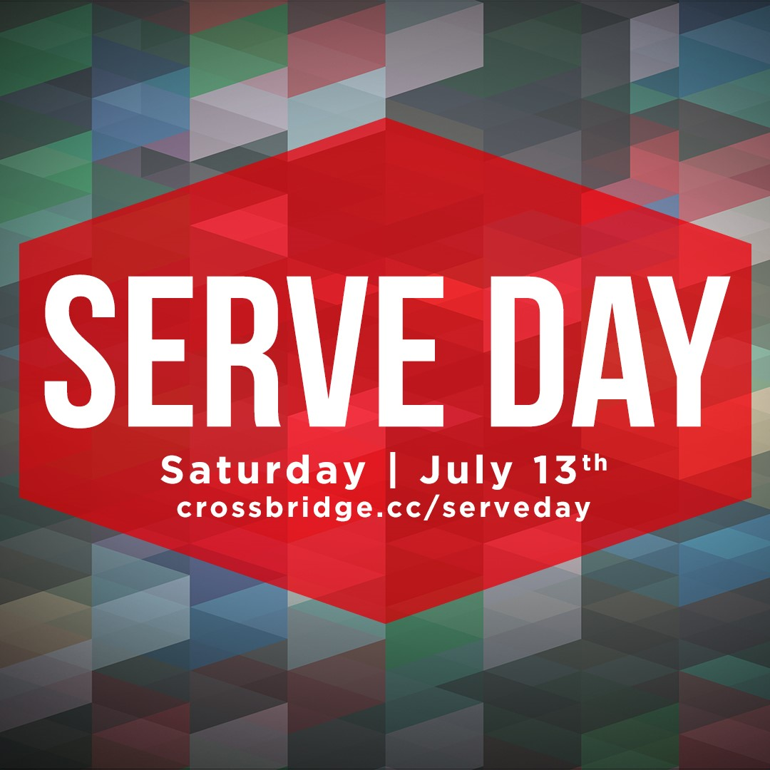 SERVE DAY | JULY 13   As followers of Jesus, we are called to take His GOOD NEWS both across the street and around the world. Join us on July 13th as we go into our own community and put the love of God into action by serving our neighbors. Click  HERE  for more information and to register.