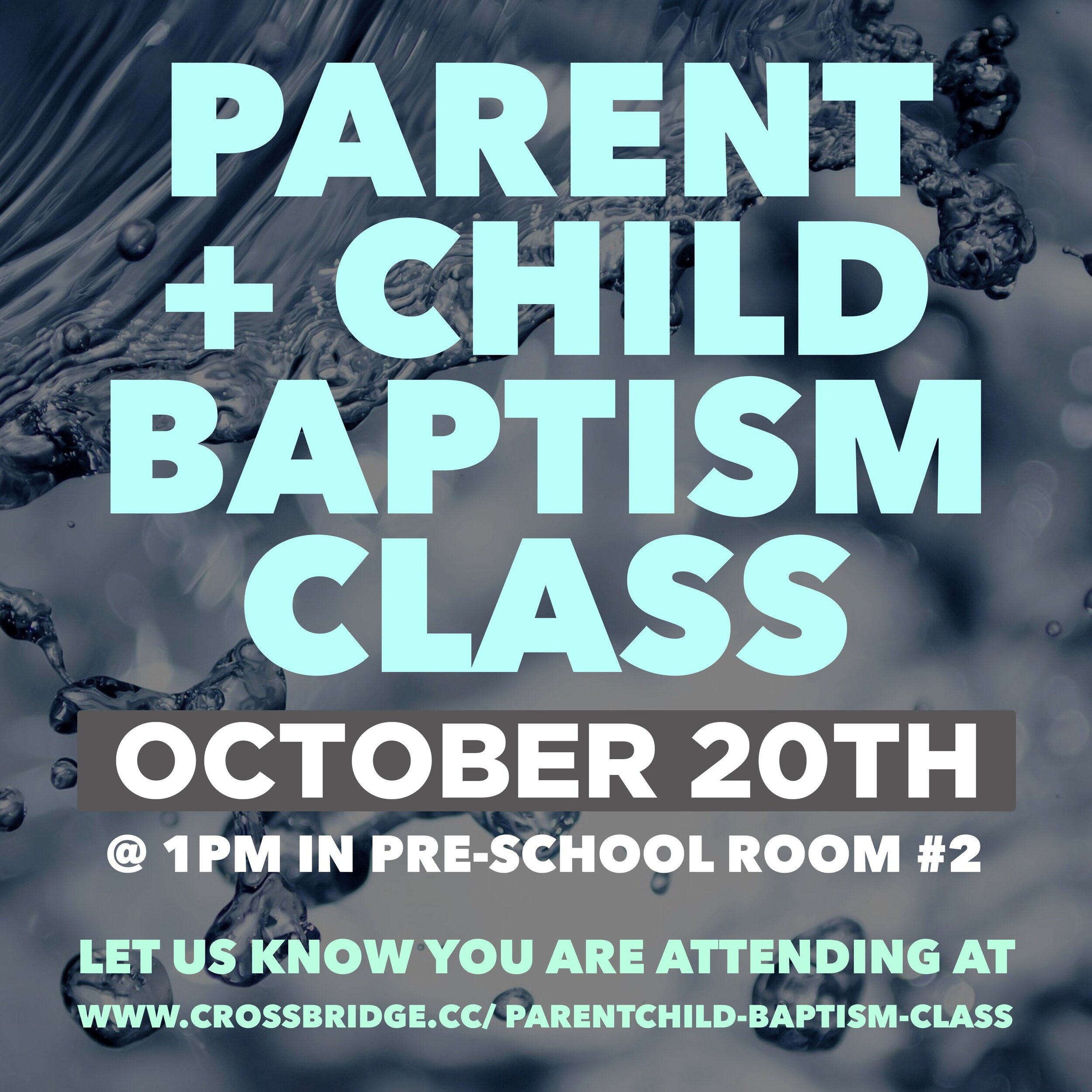PARENT+CHILD BAPTISM CLASS | OCT. 20   Has your child been asking questions about what it means to have Jesus in their heart? Do they want to be baptized? We offer an amazing one hour program for children in 1st-6th grade called We Believe. Click  HERE  for more information and to register.