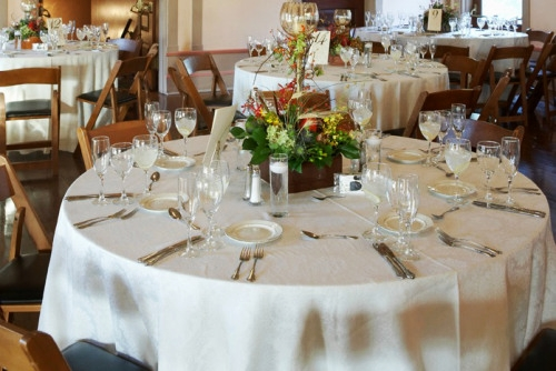 Simple White Table Linen