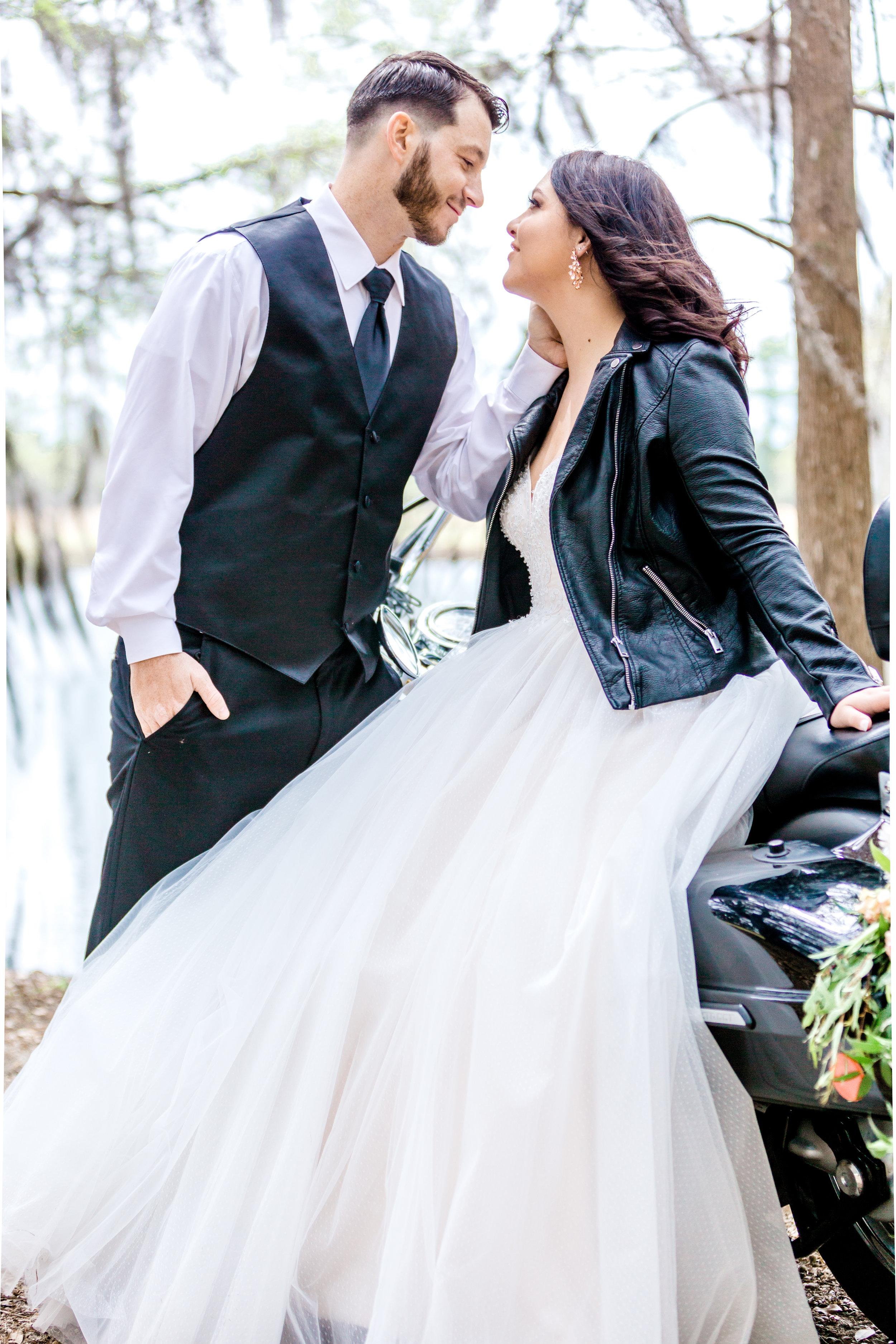 Motorcycle and Leather Jacket Wedding Bride.jpg