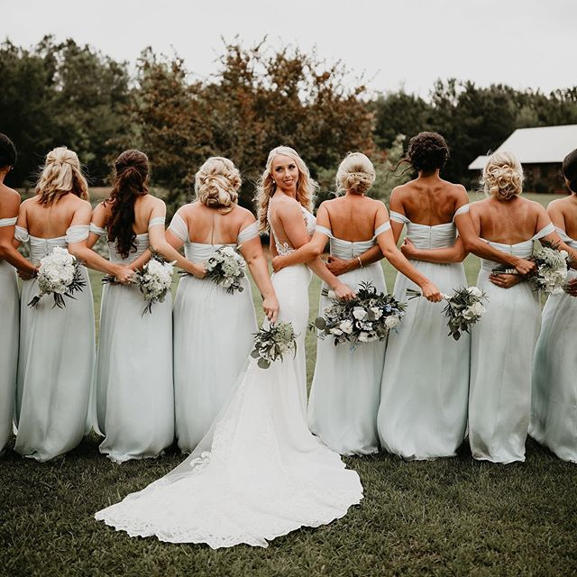 Case of the Monday blues looks a little different around our office!  _ _ Photographer   @mmichelphotography  Venue   @hiddenacresmarionsc Gown   @coastalknot  Florals   @encore_conway