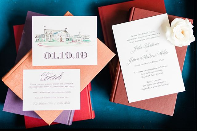 #tiptuesday Always provide an invitation suite for your photographer on the wedding day so they can capture those precious detail shots like this! _ _ #invitationsuite #weddinginvitations #southernwedding #southernbride #watercolor #watercolorinvitations #weddinginspo #weddingdetails #weddingplanning #weddingplanningtips #weddingtips #myrtlebeachwedding #destinationwedding #golfcourse #golfcoursewedding #countryclub #countryclubwedding #bride #groom #engaged #implanningawedding #bridetobe #weddings #couple #ebscouple #weddingplanner #eventsbysantana