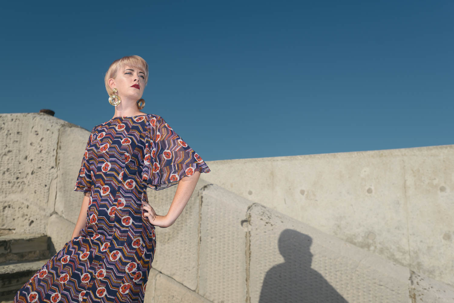 A blue sky in September - another image from the fashion shoot