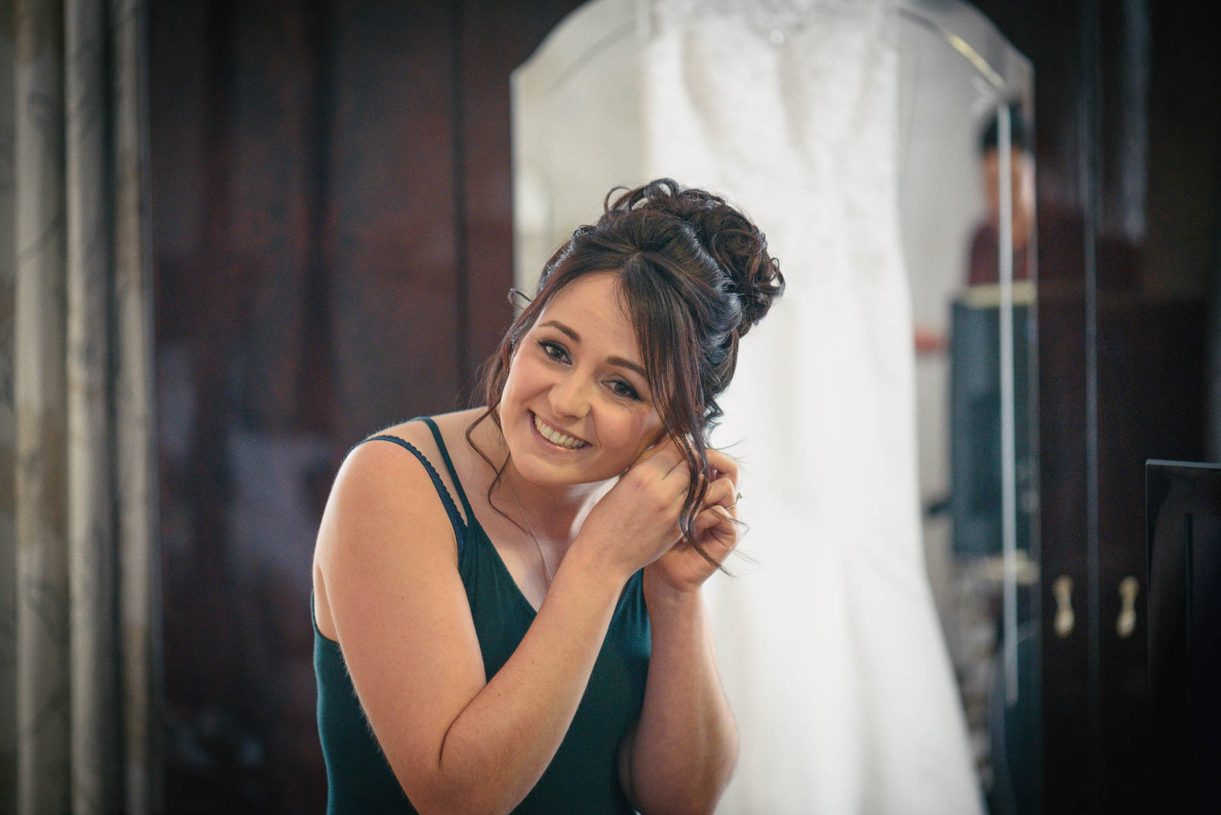 Hadlow Manor Wedding - bride getting ready