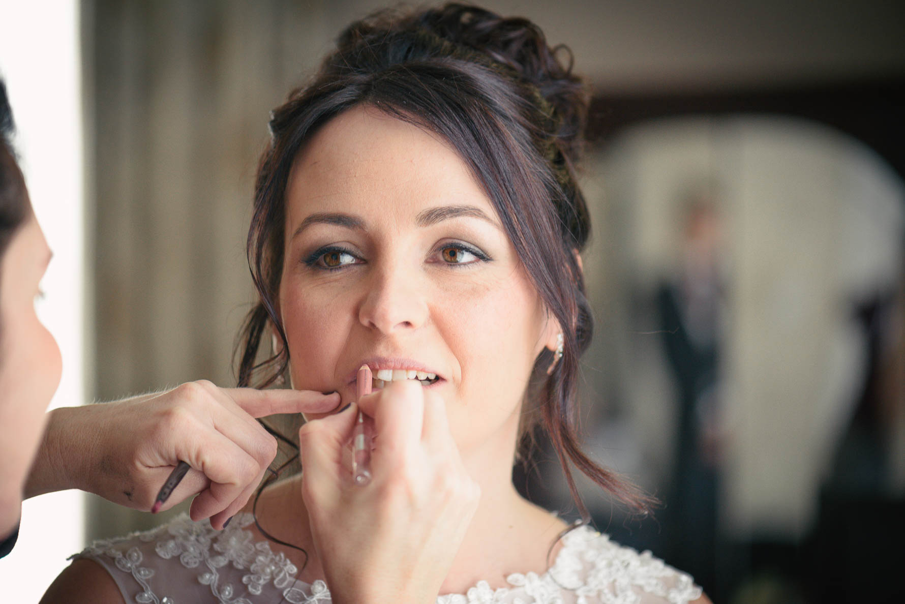 Bride on her wedding day at Hadlow Manor Hotel