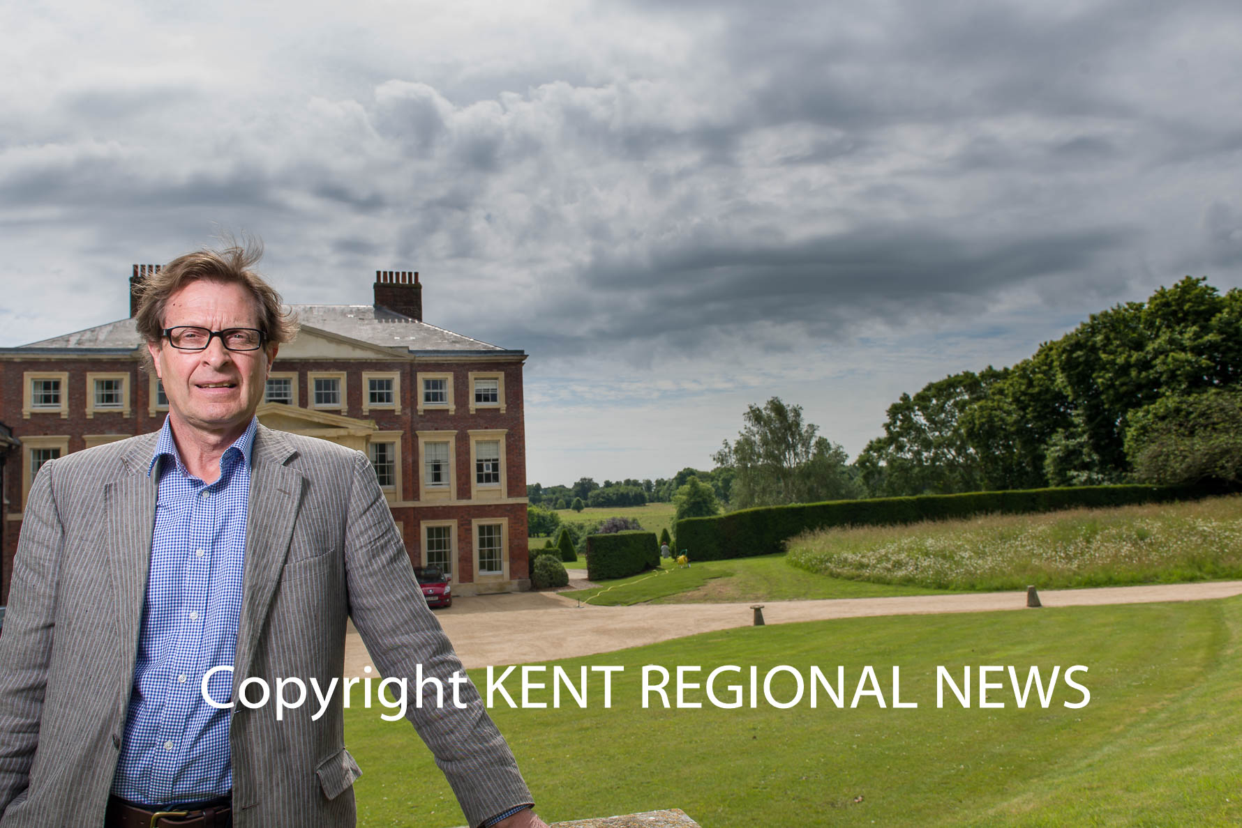 Kent PR Photography - Julian Plumptre outside of Goodnestone House