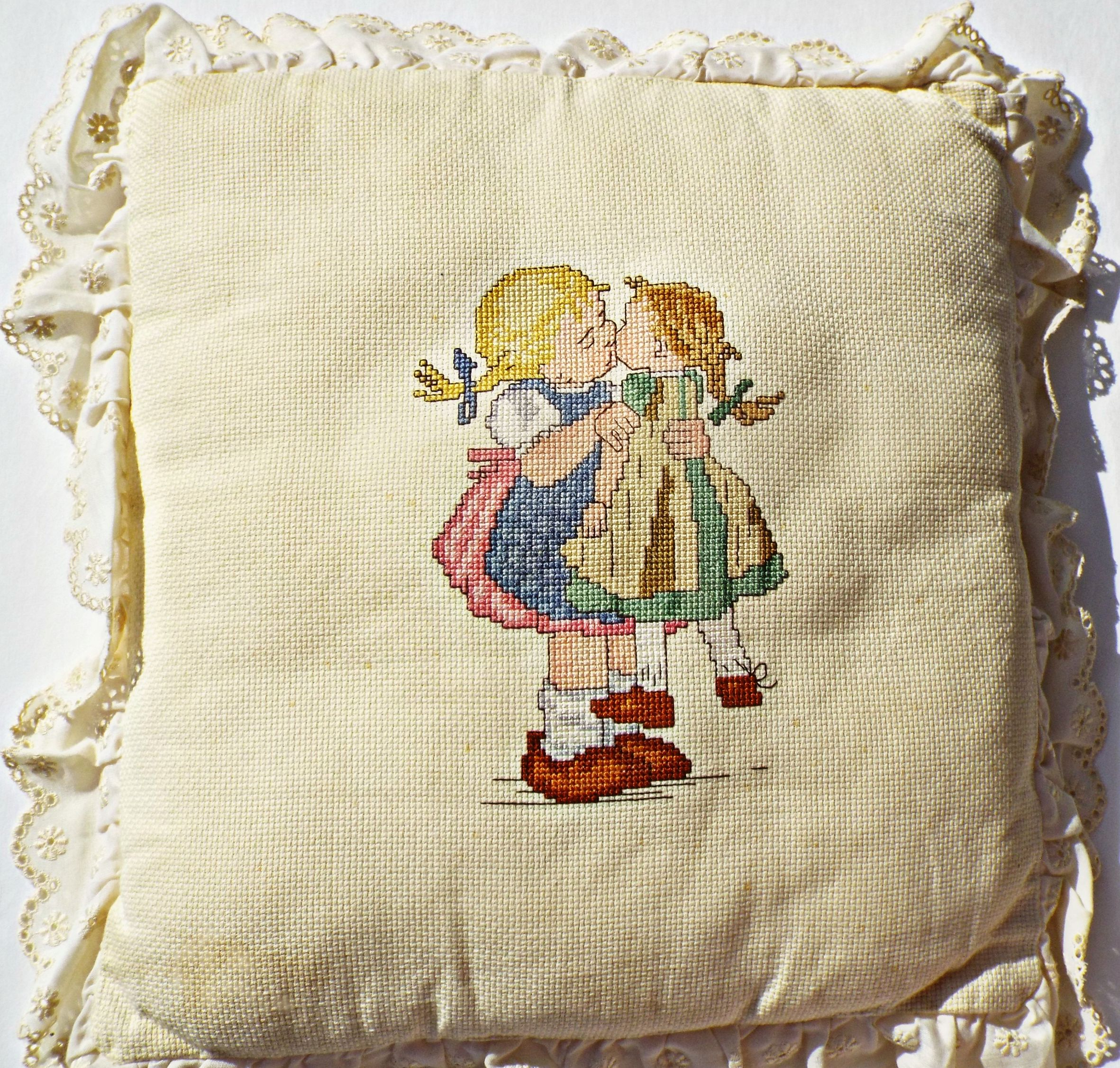 Cross-Stitched Pillow