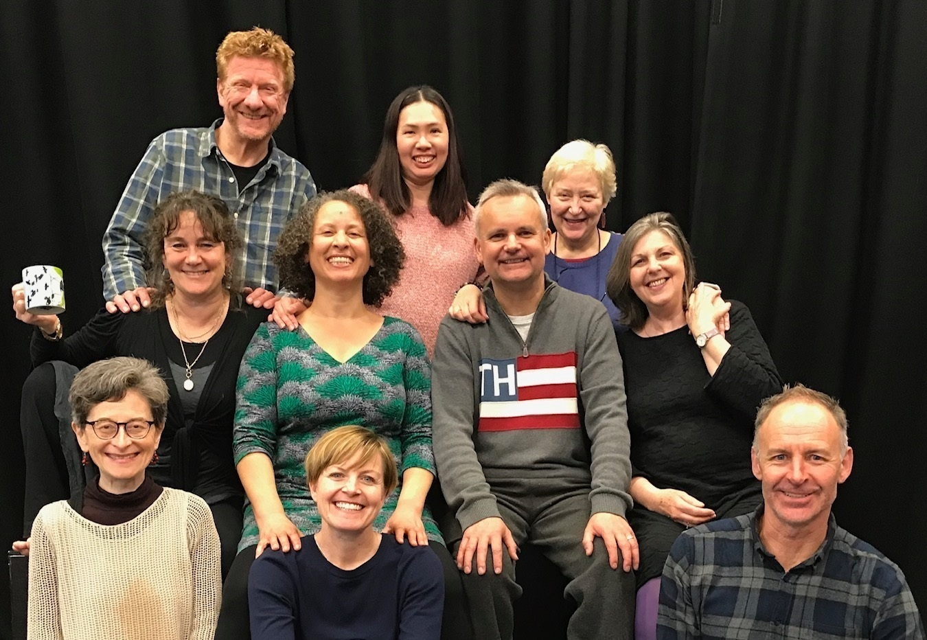 SPT UK Trainers : Top row left to right: Steve Nash, Agnes Law, Di Adderley. Middle row: Alison Fairlove, Rose Thorn, Simon Floodgate, Amanda Brown. Bottom row: Veronica Needa, Davina Holms, Andrew Gray.