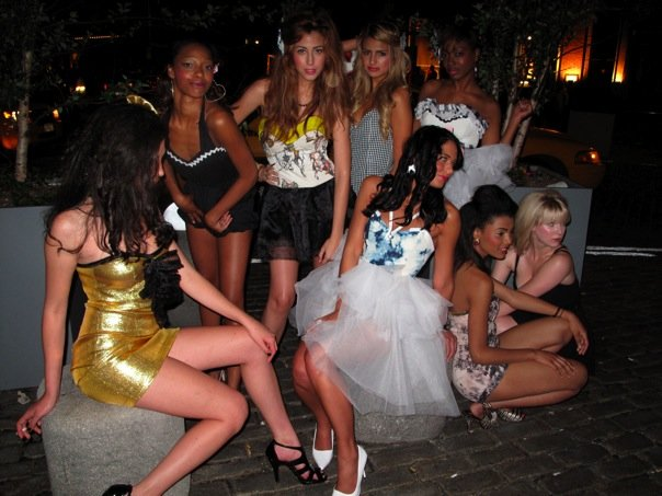 models at my first fashion show- 2009