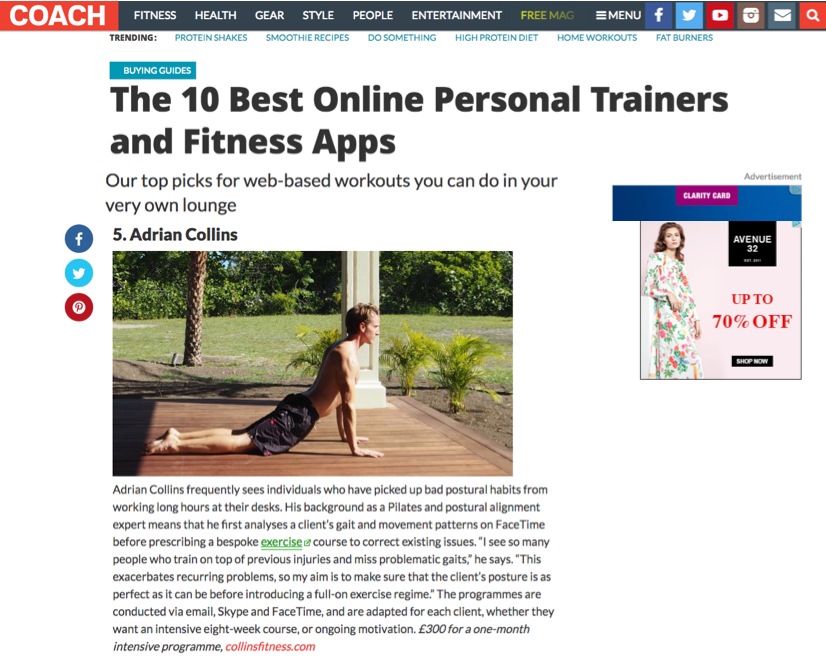 Coach magazine online training article