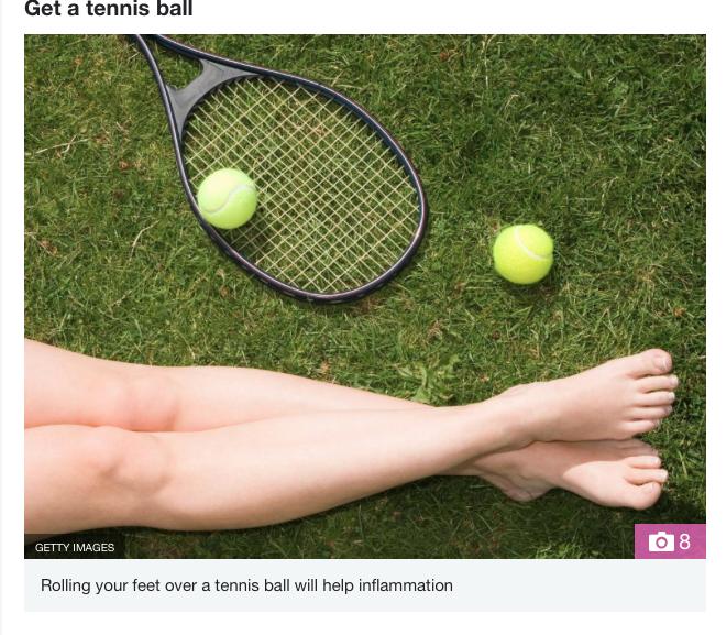 The sun article Fabulous magazine MFR release Tennis ball
