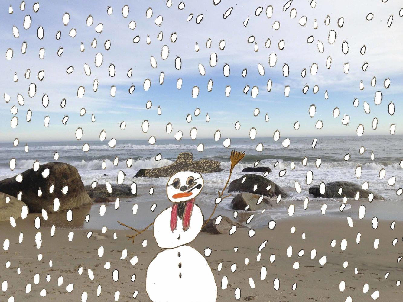 Snowman at Lucy Vincent Beach
