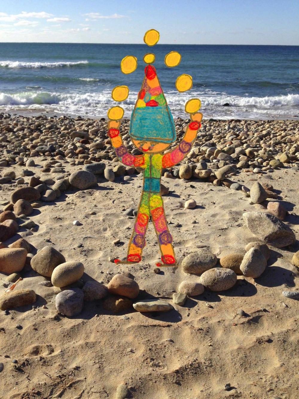 Juggler at Philbin Beach