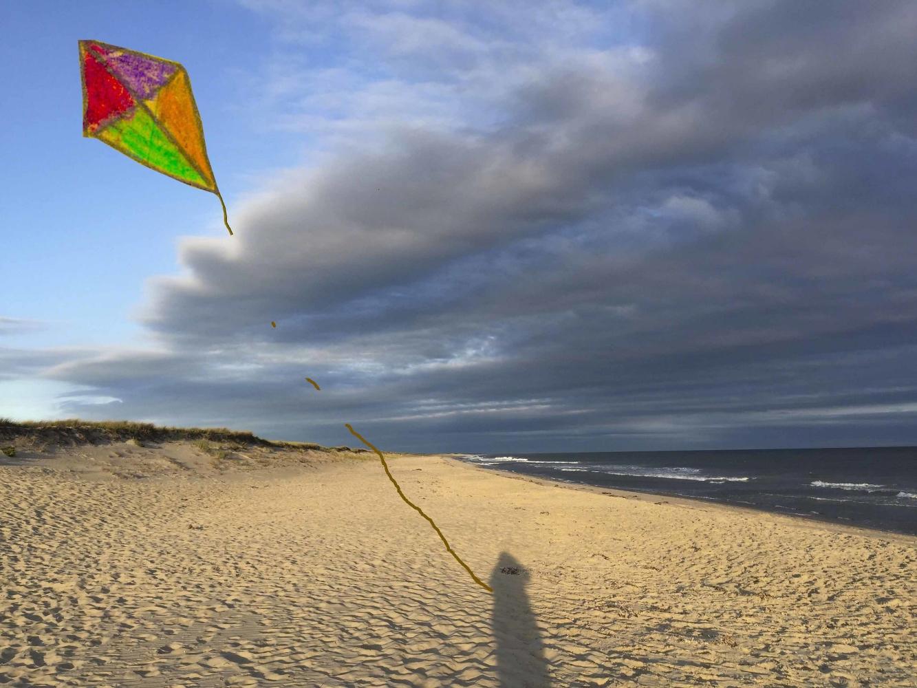 Shadow Flying a Kite