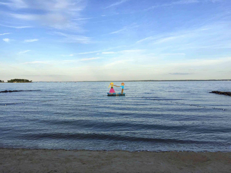 Couple on a Raft