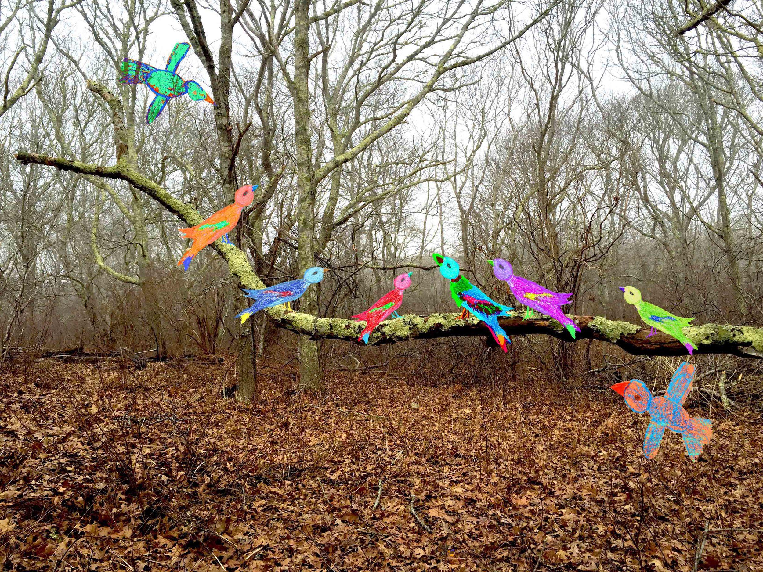 Karen's Birds on a Branch
