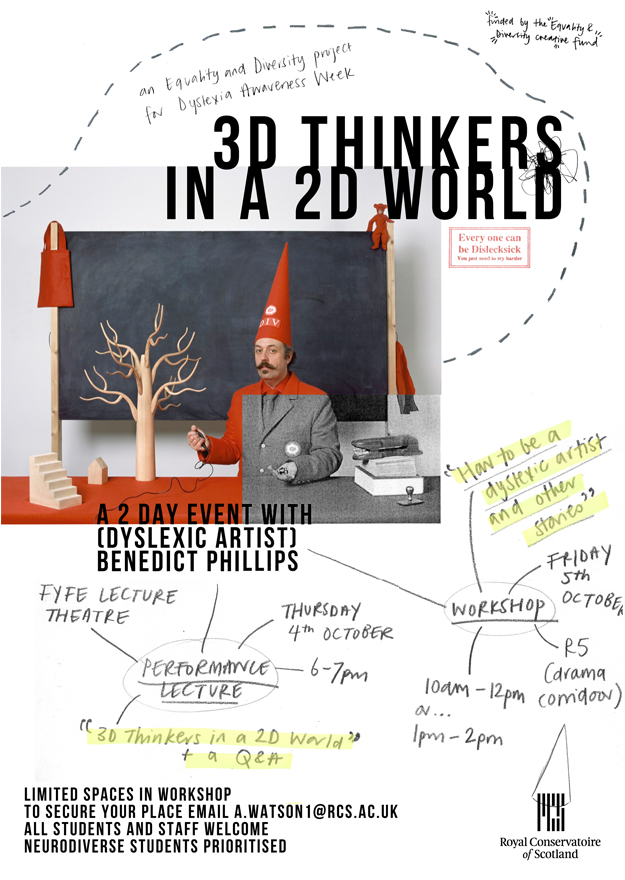 Poster design by aby watson, image of the red div copyright benedict phillips