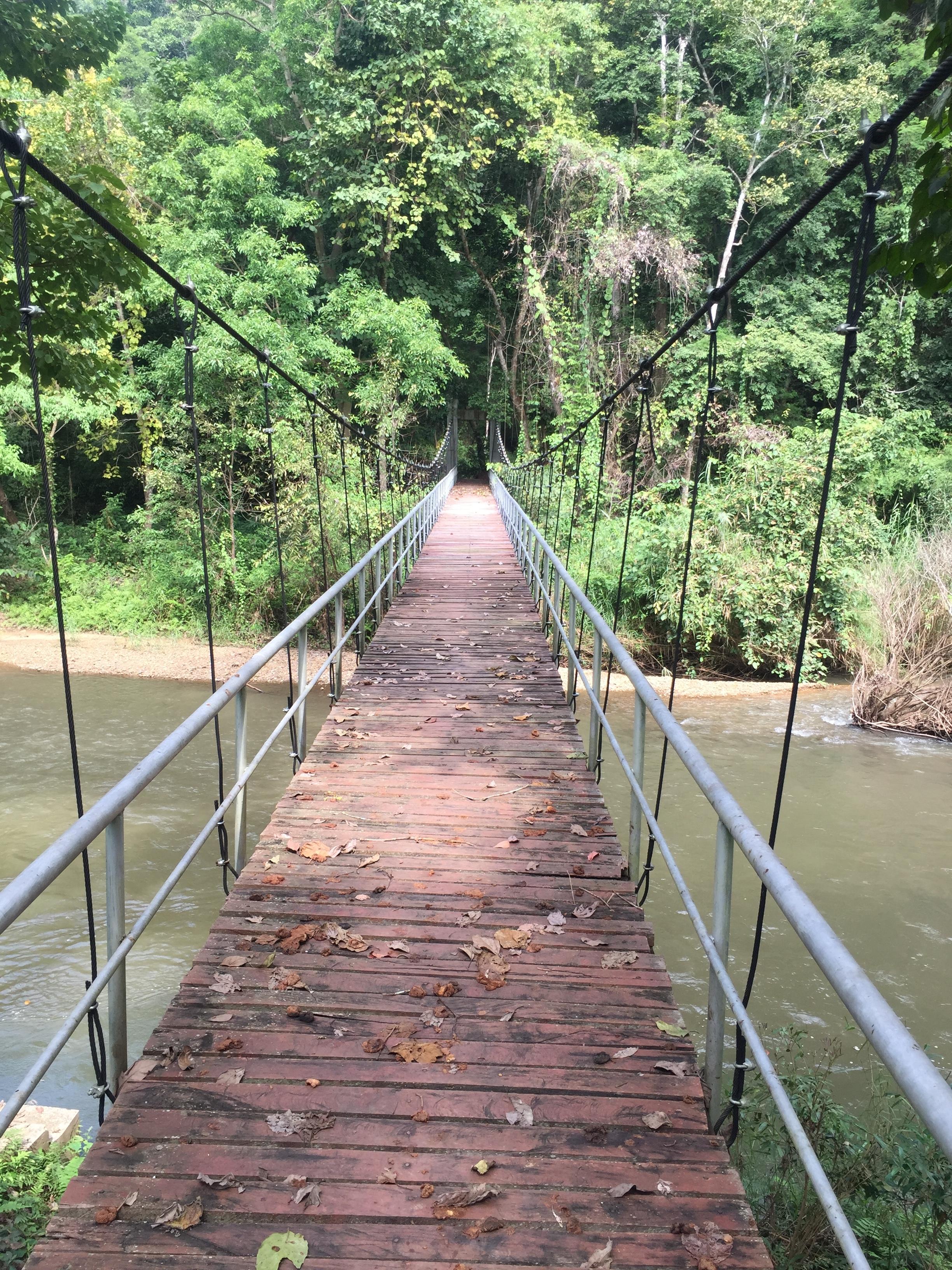 Bridge over the river quiet.